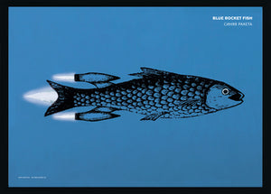 Grafische poster - Blue Rocket Fish
