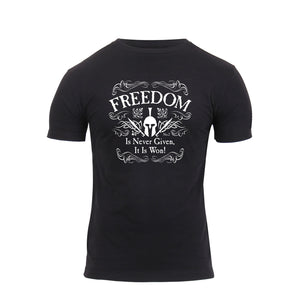 Rothco - Athletic Fit Freedom T-Shirt - Black - 1187