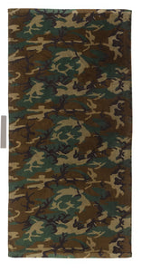 Rothco - Beach Towel - Military Insignia - Woodland Camo - 2300