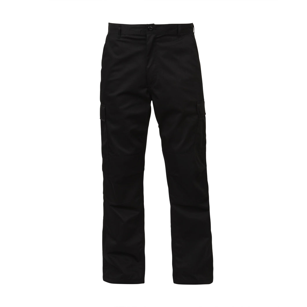 Rothco - Relaxed Fit Zipper Fly BDU Pants Black - 2974