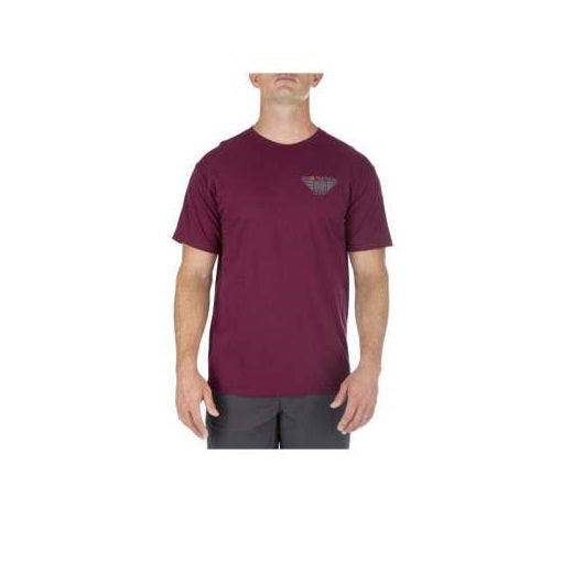 5.11 Tactical - Leveled Up Tee - Maroon - 41195FRW