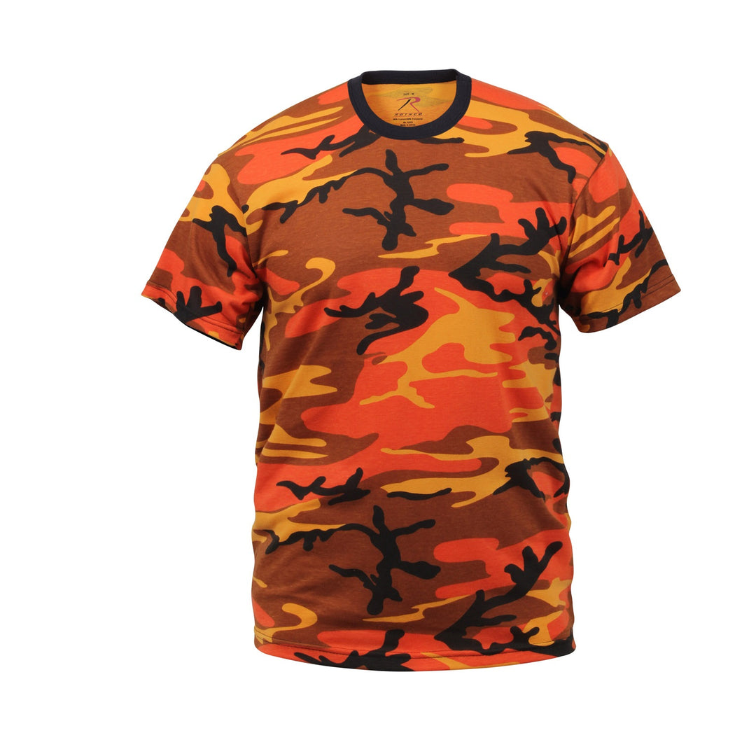 Rothco - Colored Camo T-Shirts - Savage Orange Camo - 5997