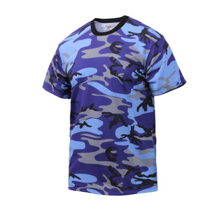 Rothco - Colored Camo T-Shirts - Electric Blue Camo - 60173