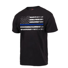 Load image into Gallery viewer, Rothco - Thin Blue Line T - Shirt - Black- 61550