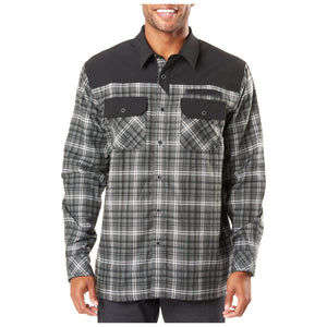 5.11 Tactical - Endeavor L/S Flannel Shirt - Charcoal Plaid - 72468