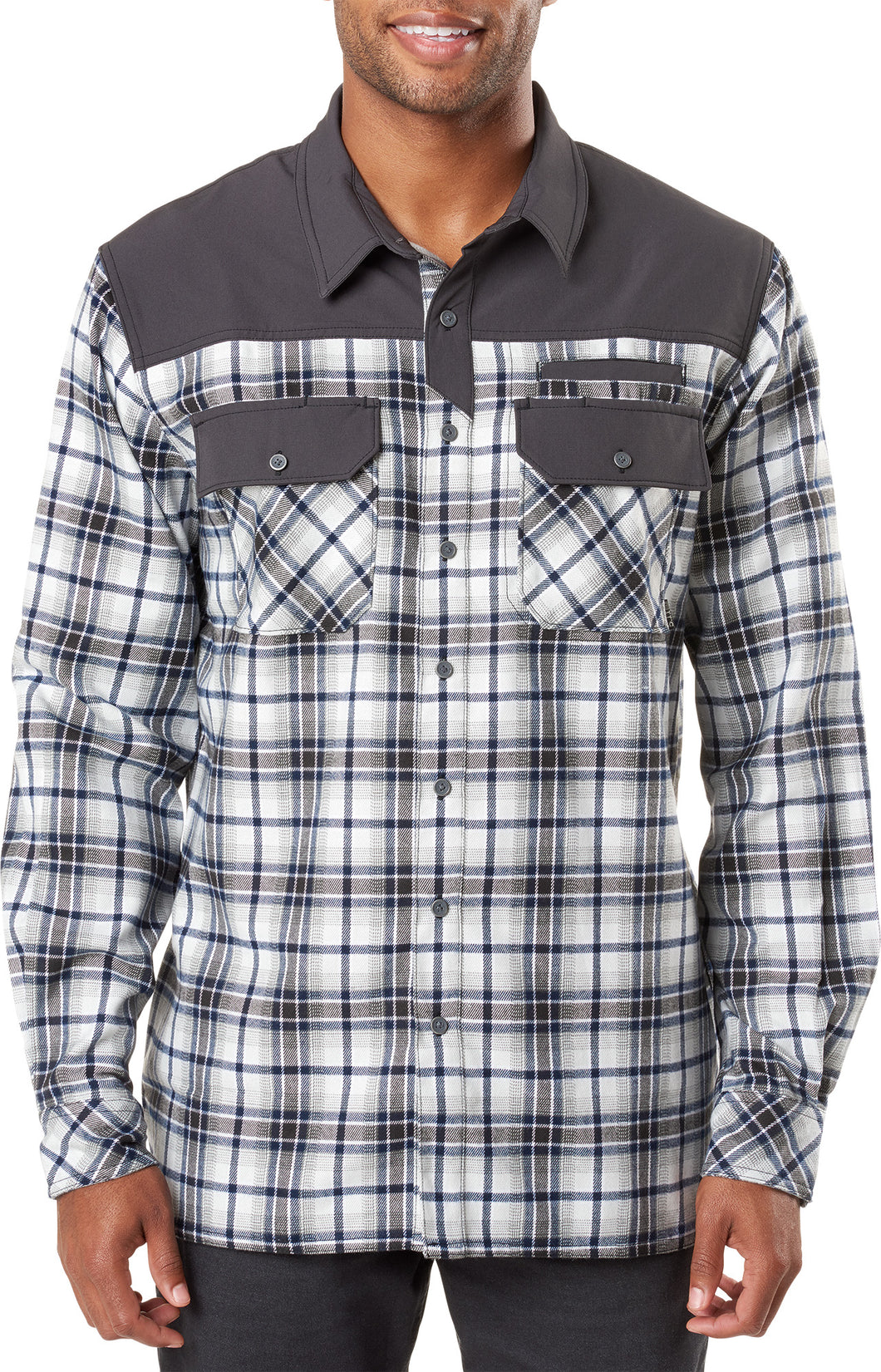 5.11 Tactical - Endeavor L/S Flannel Shirt - Battleship Plaid - 72468
