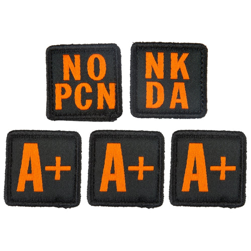 5.11 Tactical - Blood Type Patch Kit A Positive - Multi - 81322AP