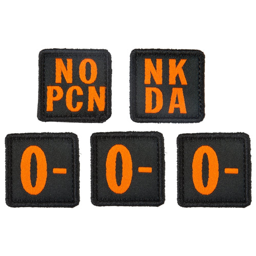 5.11 Tactical - Blood Type Patch Kit O Negative - Multi - 81322ON