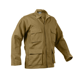 Rothco - Poly/Cotton Twill Solid BDU Shirt - Coyote - 8508