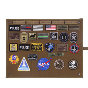 Rothco - Hanging Roll- Up Morale Patch Board - Coyote Brown - 9010
