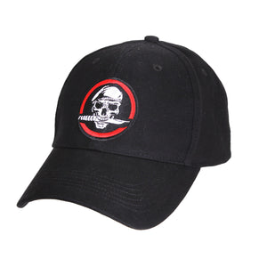 Rothco - Rothco Skull/Knife Deluxe Low Profile Cap Black OS - 9813