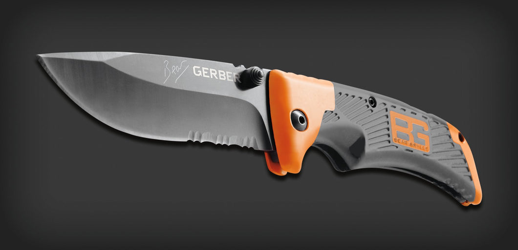 Gerber - Bear Grylls Survival Series Scout Drop Point Serrated - 31-000754