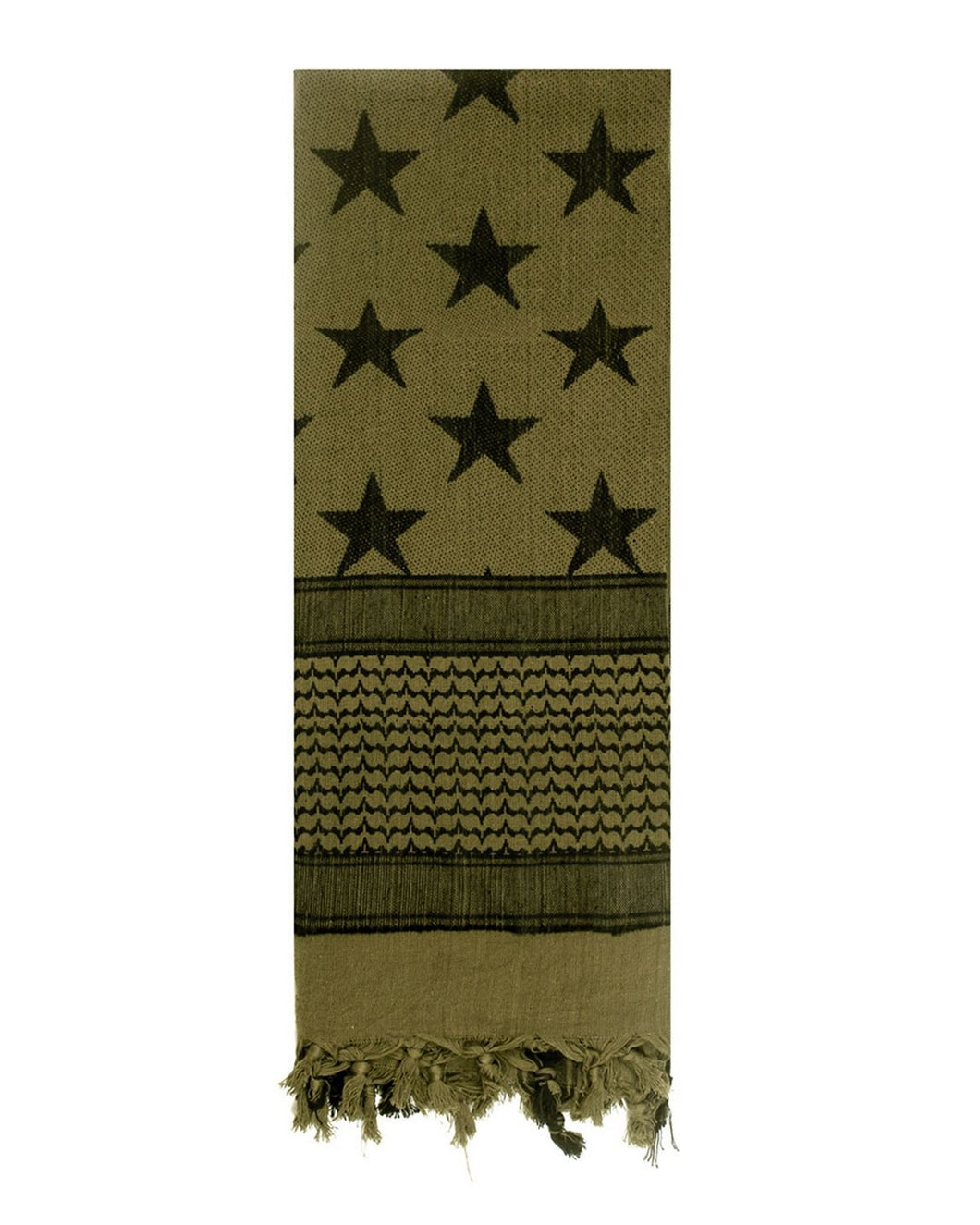Rothco - Stars and Stripes Shemagh Tactical Desert Scarf - Olive Drab - 8864