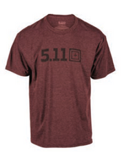 Load image into Gallery viewer, 5.11 Tactical - Legacy Tonal s/s Tee - Burgundy HTR - 41191ABA