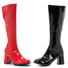 "300-HARLEY, 3"" Red and Black Gogo Boots in Black/Red"