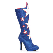 "420-HERO, 4"" Glitter Knee High Hero Costume Boot in Blue"