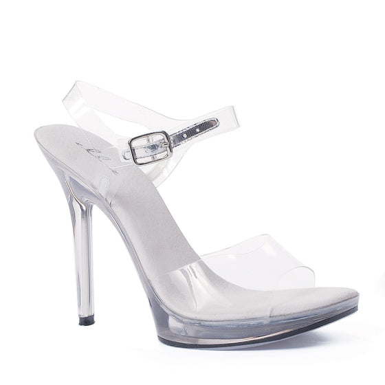 "502-BROOK, 5"" Heel Ankle Strap Sandal in Clear"