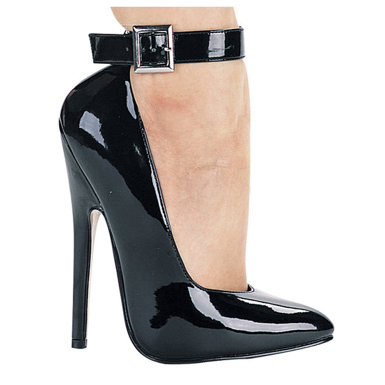 "8261, 6"" High Heel Fetish Pump With Ankle Strap"