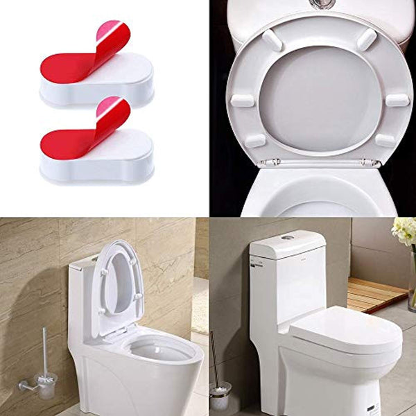 Brilliant Toilet Seat Buffers 8 Pack Seat Bumpers Universal Stoppers For Wc Cover Adhesive White Machost Co Dining Chair Design Ideas Machostcouk