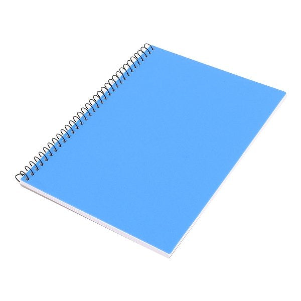 80 GSM BLUE A5 SPIRAL BOUND HARDBACK NOTEBOOK NOTE BOOK PAD RULED 200 PAGES