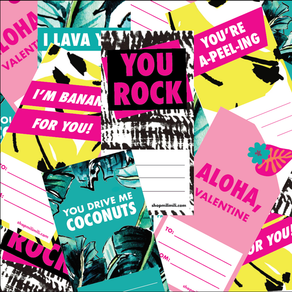 Printable Valentine's Cards—with Bold, Bright Style!