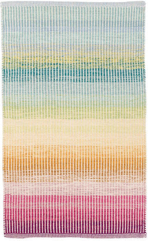 rainbow colored cotton rug