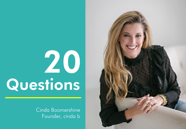 20 Questions with Cinda Boomershine