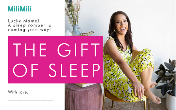 MiliMili: gift notification card for women's sleep romper