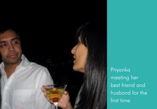 Priyanka meeting her best friend and husband for the first time