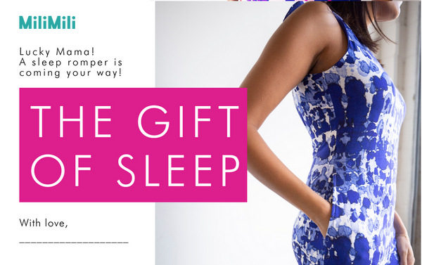The gift of sleep: MiliMili gift notification card