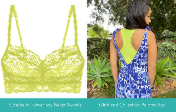 neon bralettes to pair with your blue milimili sleep romper