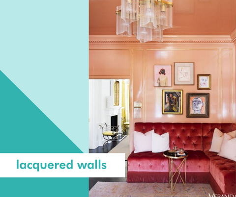 Lacuqered Walls: Image of pink lacquered dining room with pink velvet banquette from Talyea Fowler's home in Atlanta