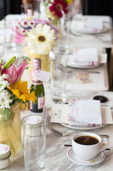 image of baby shower table setting