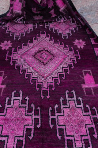 purple oushak rug