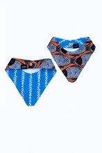 Load image into Gallery viewer, reversible fish print dog bandana