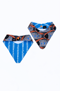 reversible fish print dog bandana