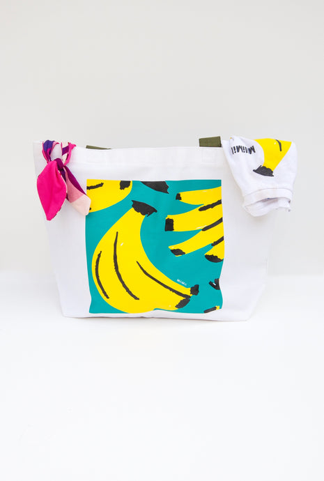 oversized banana print tote bag from milimilil
