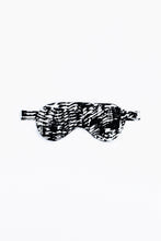 Load image into Gallery viewer, Power nap eye mask, shown in Kilauea (black and white) print