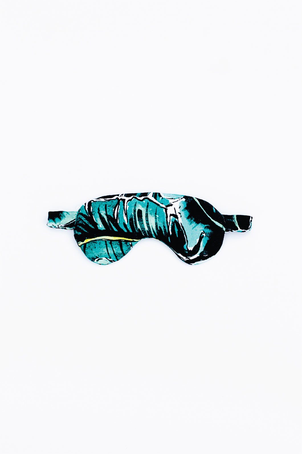 Power nap eye mask, shown in Kauai One (palm leaf) print