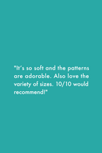 "Load image into Gallery viewer, MiliMili Sleep Sack Review: ""It's so soft and the patterns are adorable. Also love the variety of sizes. 10/10 would recommend!"""