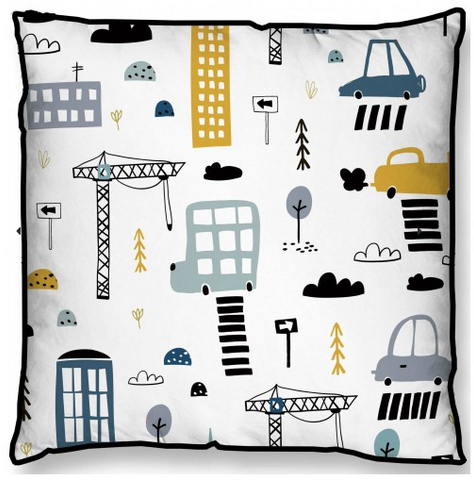 Construction Zone Cushion 45cm x 45cm