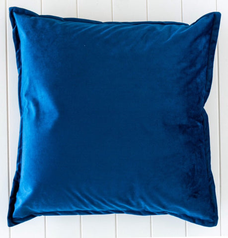 Velvet Madison Cushion -  NAVY 60cm x 60cm
