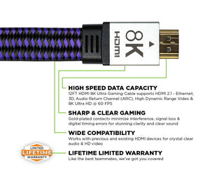 12' HDMI 8K Ultra Gaming Cable™