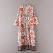 Load image into Gallery viewer, Summer Boho Long Kimono Beach Cardigan