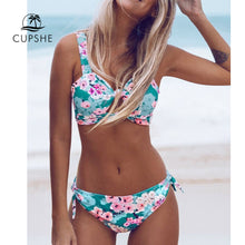 Load image into Gallery viewer, CUPSHE Double Knot Floral Print Bikini Set