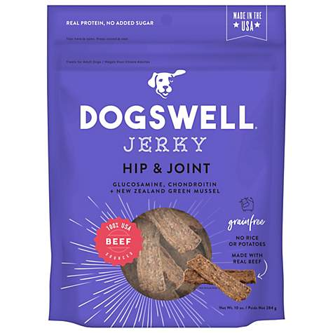 Dogswell Hip & Joint Jerky Grain-Free Beef 10 oz.