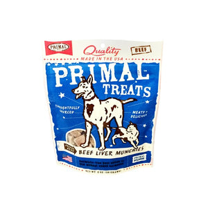 Primal Beef Liver Munchies Freeze-Dried Dog & Cat Treats 2 oz