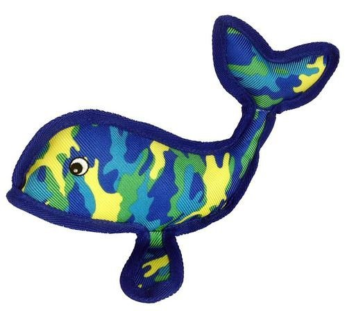 Petlou Seawarrior Whale Toy - Plush Soft Squeaks Interactive Dog Chew Toy