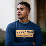 Badge Sweater - Navy/Gold