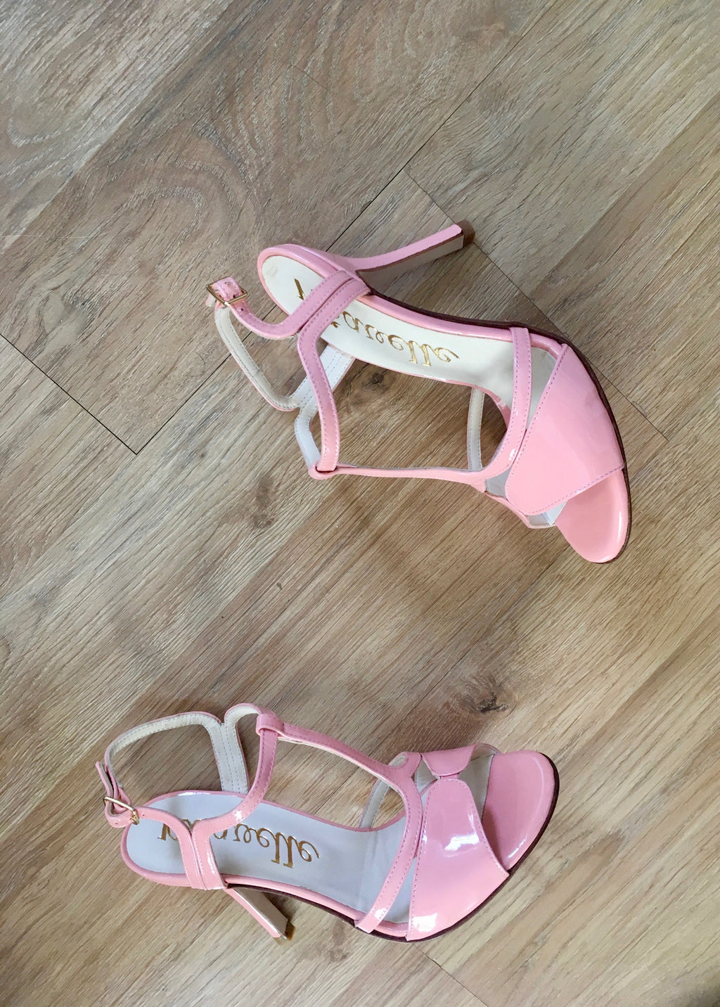peach high heeled shoes for wedding and tango